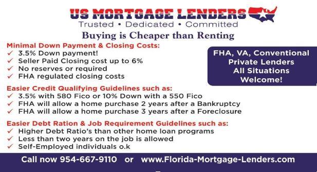 Florida FHA Mortgage Lenders