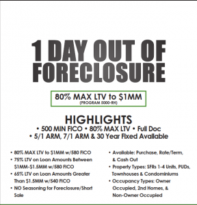 500 Credit Score >> California Mortgage Lenders 1 Day After Foreclosure Bk