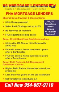 Jacksonville Florida FHA Mortgage Lenders - MIN 500 FICO